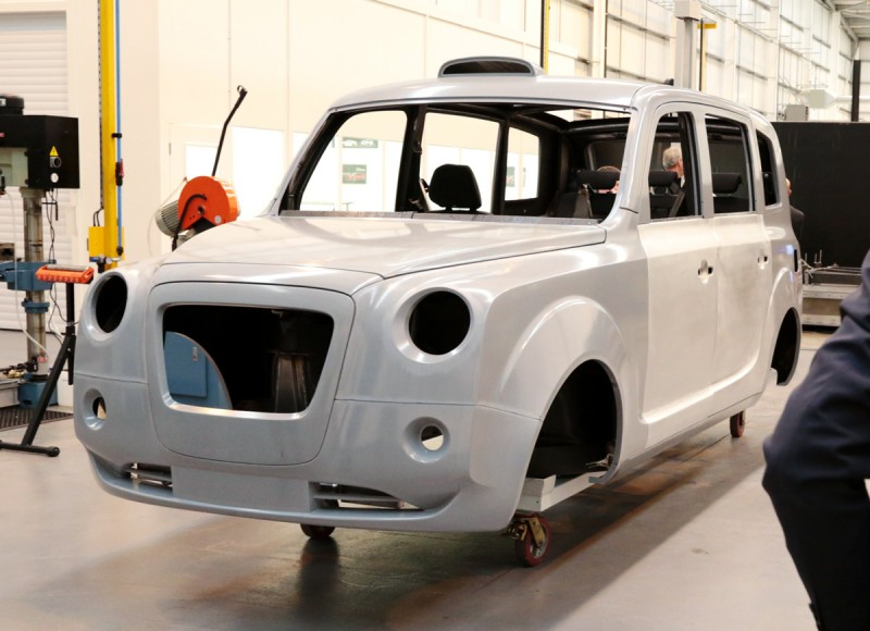 Metrocab body in white, Coventry
