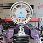 The Winning Trophy on Sam Bird's Virgin Racing car - Formula E London ePrix 28 June 2015 - AutoVolt
