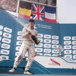 A very happy Sam Bird, victor of the Formula E London ePrix 28 June 2015 - AutoVolt