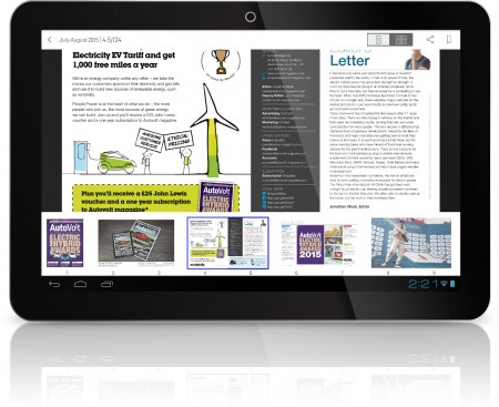 AutoVolt Magzter on Android Tablet