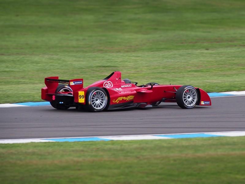Formula E Testing at Donington in 2014 | © AutoVolt Jonathan Musk