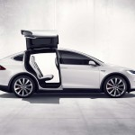 Tesla Model X profile doors open