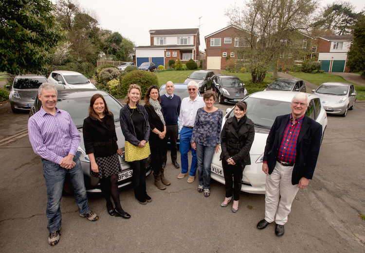The street of the future '?? neighbours in Marlow test the impact of a cluster of 9 electric vehicles on the local electricity grid.