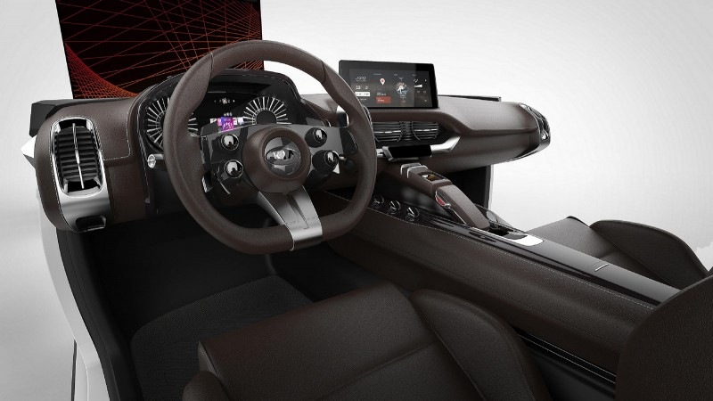 KIA at CES 2016 cockpit mockup