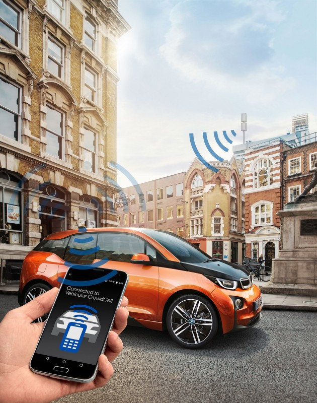 BMW presents the Vehicular CrowdCell at the Mobile World Congress 2016 in Barcelona