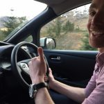 Chris Ramsey with Nissan LEAF 30kWh