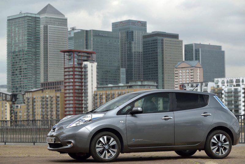 Nissan LEAF London backdrop