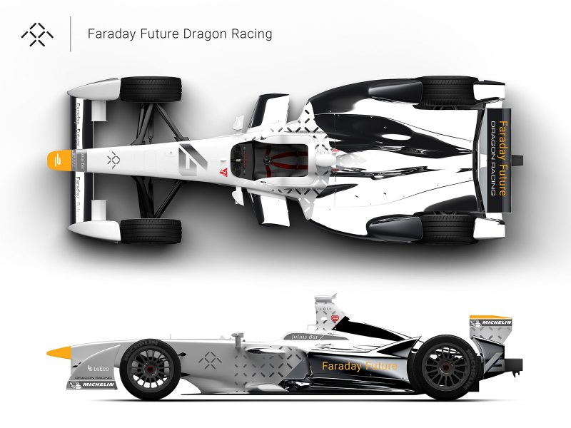 Faraday Future Dragon Racing Formula E livery concept