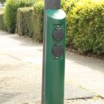Evolt lampost charge points