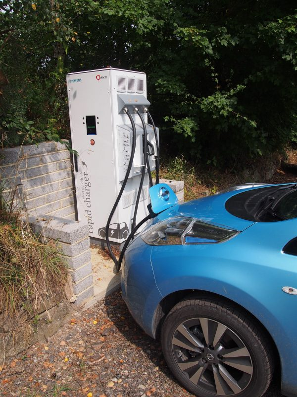 Nissan Leaf 30kWh in Wales 2016 - CYC charge point The Wharf House