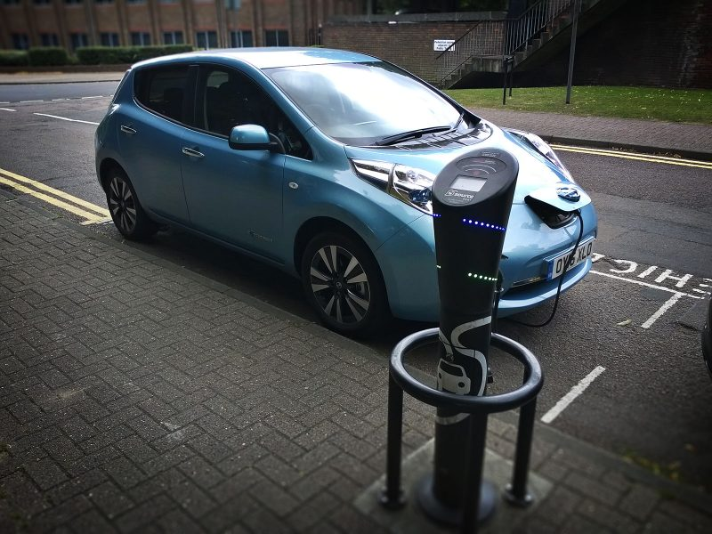 Nissan Leaf OY16XLO at Source East charge point