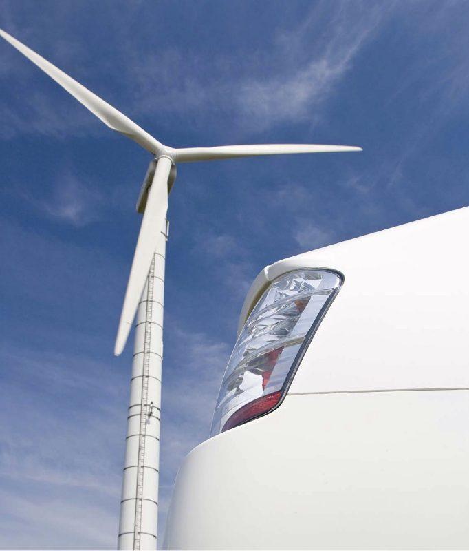 Prius plug-in & wind turbine