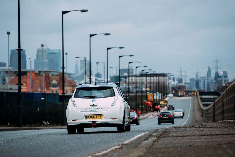 Nissan's autonomous drive demonstration event London