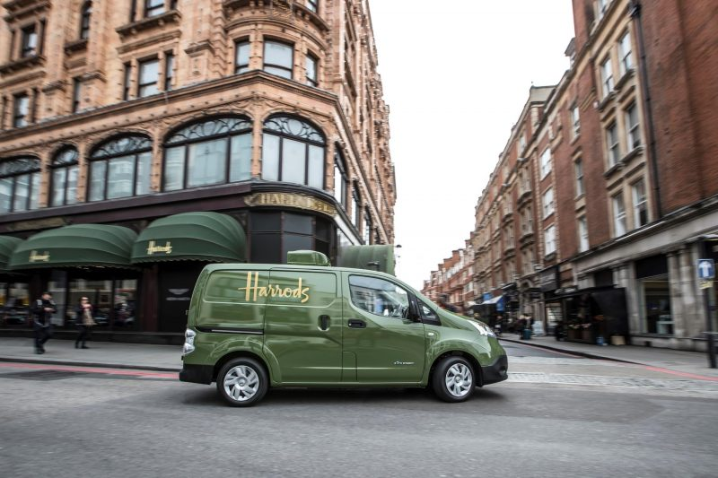 All electric Nissan e-NV200 revolutionises iconic Harrods delivery fleet