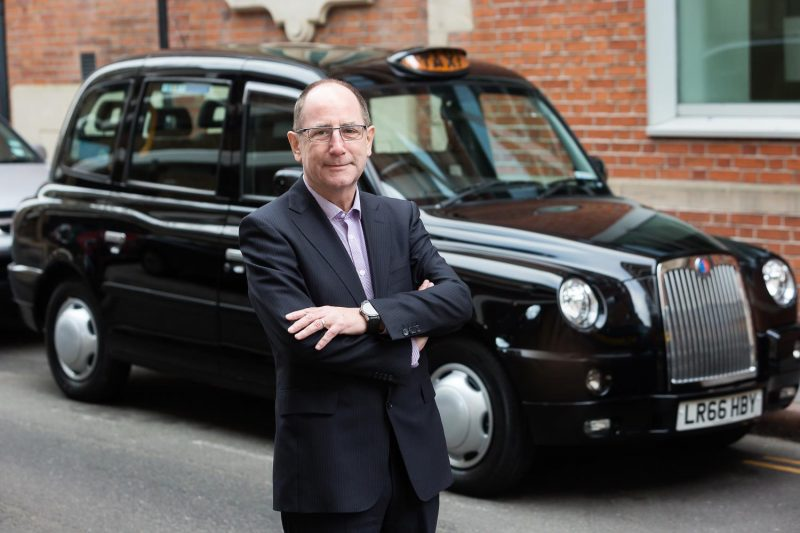 Chris Gubbey with Taxi