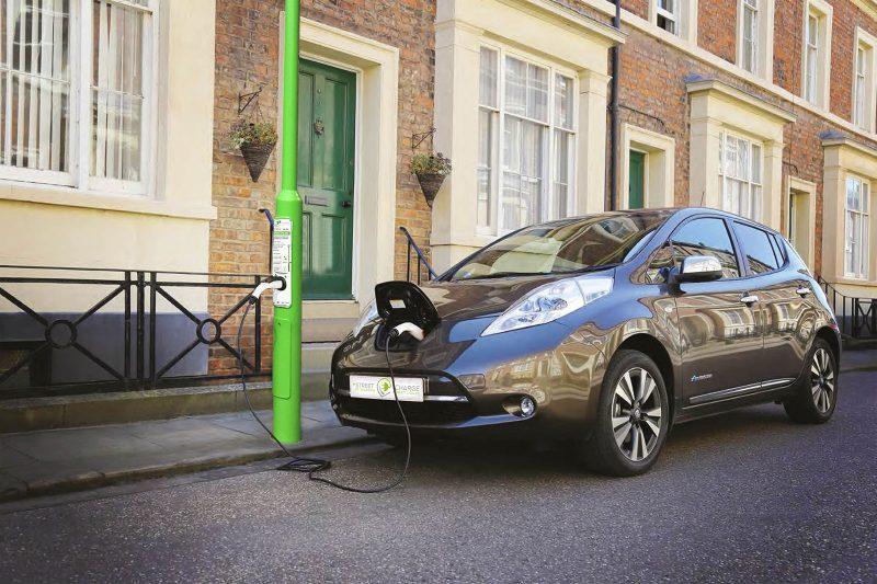 EV charging street lights