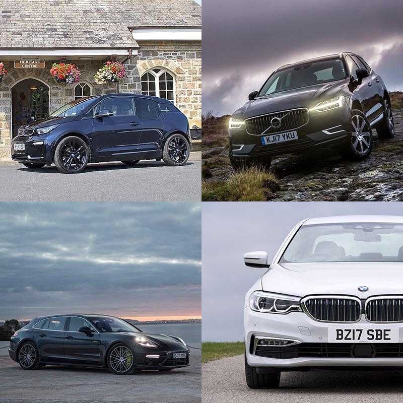 BMW i3, Volvo XC60 T8 Twin Engine, BMW 530e iPerformance, Porsche Panamera